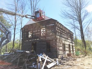 Vintage log house.